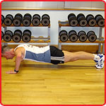 Press-up finish position