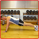 Press-up start position